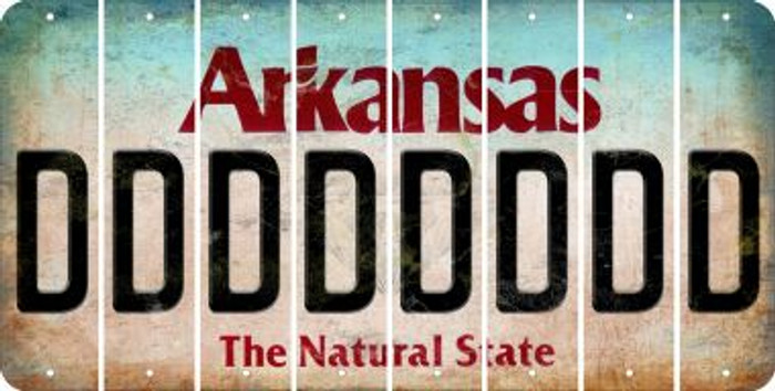 Arkansas D Cut License Plate Strips (Set of 8) LPS-AR1-004