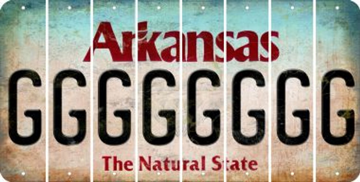 Arkansas G Cut License Plate Strips (Set of 8) LPS-AR1-007