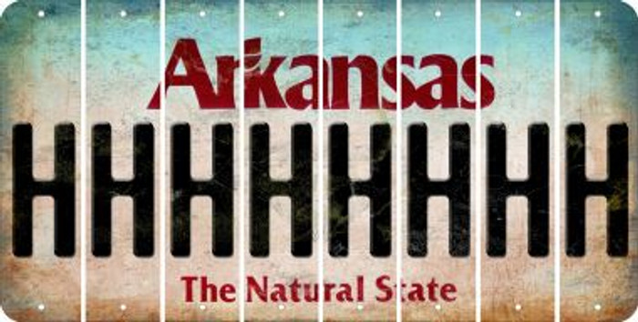 Arkansas H Cut License Plate Strips (Set of 8) LPS-AR1-008