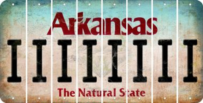 Arkansas I Cut License Plate Strips (Set of 8) LPS-AR1-009