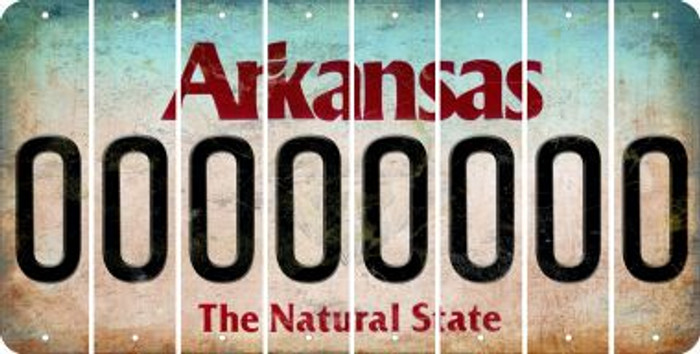 Arkansas O Cut License Plate Strips (Set of 8) LPS-AR1-015