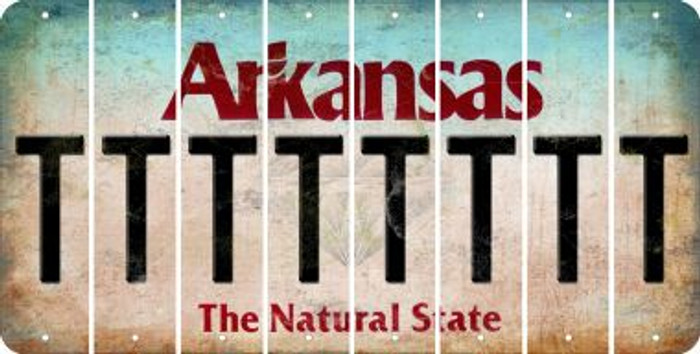 Arkansas T Cut License Plate Strips (Set of 8) LPS-AR1-020