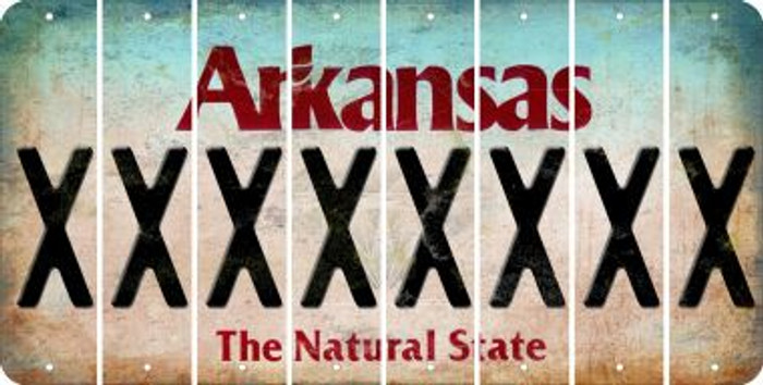 Arkansas X Cut License Plate Strips (Set of 8) LPS-AR1-024