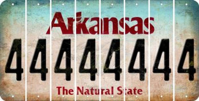 Arkansas 4 Cut License Plate Strips (Set of 8) LPS-AR1-031