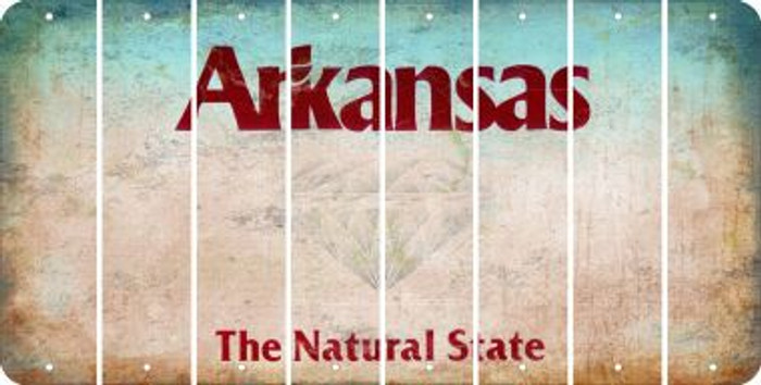 Arkansas BLANK Cut License Plate Strips (Set of 8) LPS-AR1-037