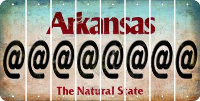 Arkansas ASPERAND Cut License Plate Strips (Set of 8) LPS-AR1-039
