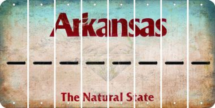 Arkansas HYPHEN Cut License Plate Strips (Set of 8) LPS-AR1-044