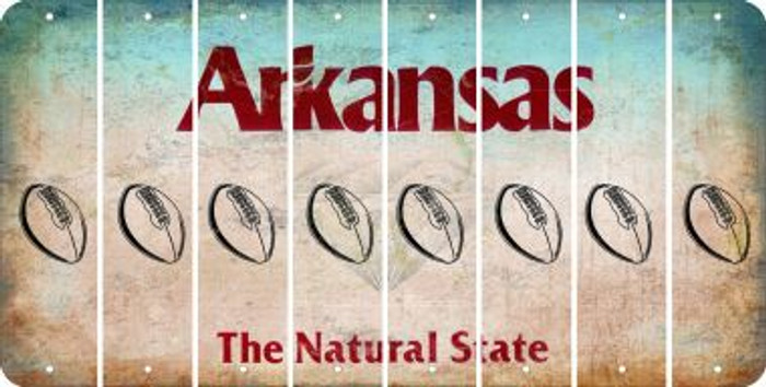 Arkansas FOOTBALL Cut License Plate Strips (Set of 8) LPS-AR1-060