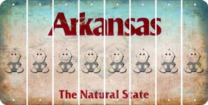 Arkansas BABY BOY Cut License Plate Strips (Set of 8) LPS-AR1-066