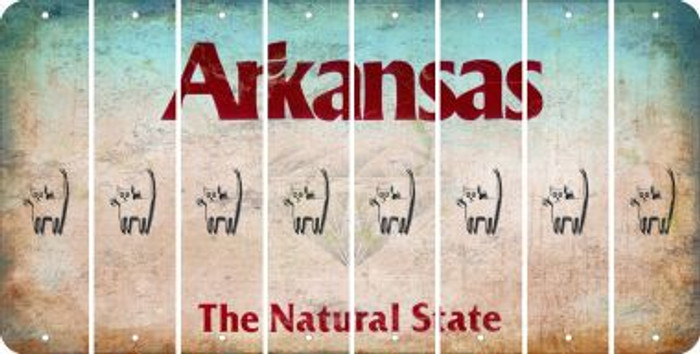 Arkansas CAT Cut License Plate Strips (Set of 8) LPS-AR1-072