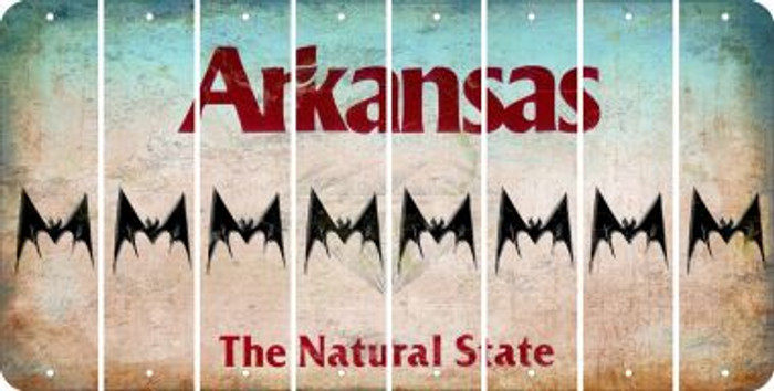 Arkansas BAT Cut License Plate Strips (Set of 8) LPS-AR1-074