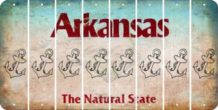 Arkansas ANCHOR Cut License Plate Strips (Set of 8) LPS-AR1-093