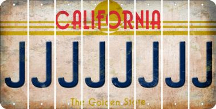 California J Cut License Plate Strips (Set of 8) LPS-CA1-010