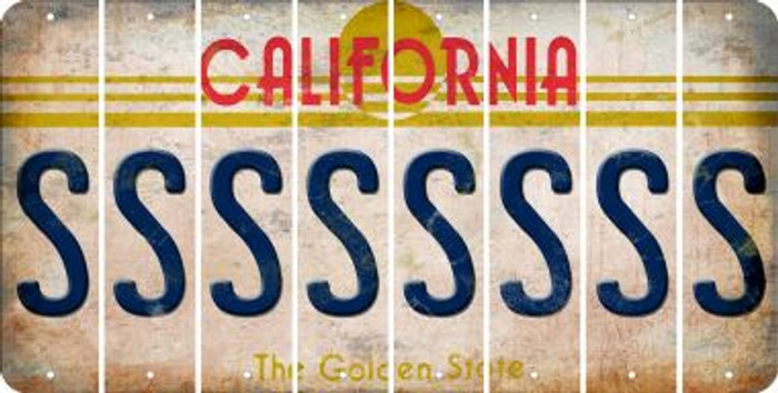 California S Cut License Plate Strips (Set of 8) LPS-CA1-019