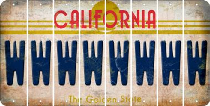 California W Cut License Plate Strips (Set of 8) LPS-CA1-023