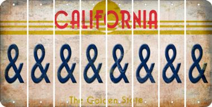 California AMPERSAND Cut License Plate Strips (Set of 8) LPS-CA1-049