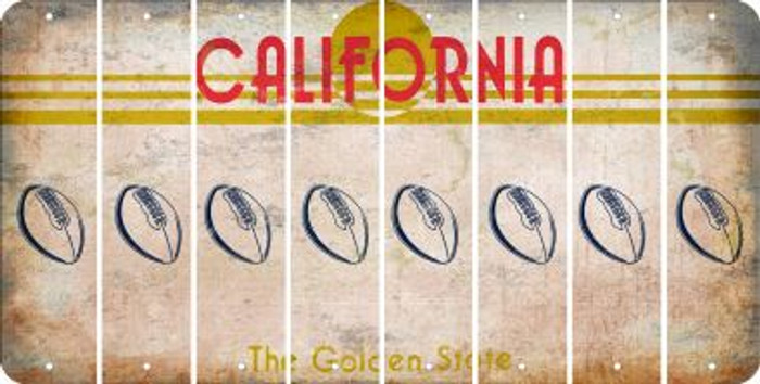 California FOOTBALL Cut License Plate Strips (Set of 8) LPS-CA1-060