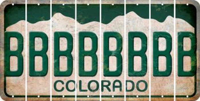 Colorado B Cut License Plate Strips (Set of 8) LPS-CO1-002