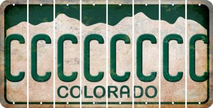 Colorado C Cut License Plate Strips (Set of 8) LPS-CO1-003