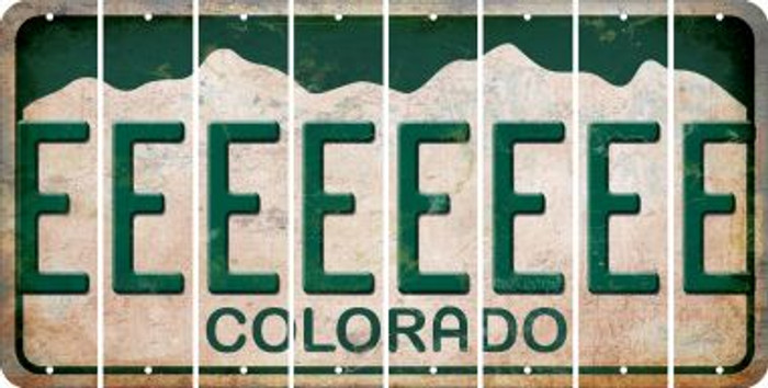 Colorado E Cut License Plate Strips (Set of 8) LPS-CO1-005
