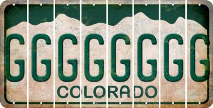 Colorado G Cut License Plate Strips (Set of 8) LPS-CO1-007