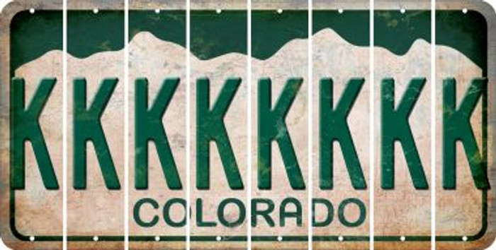 Colorado K Cut License Plate Strips (Set of 8) LPS-CO1-011