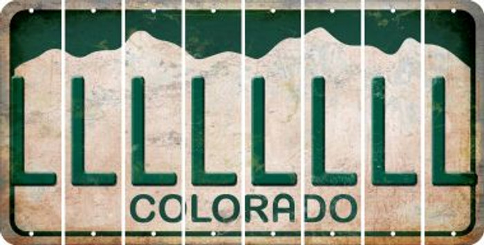 Colorado L Cut License Plate Strips (Set of 8) LPS-CO1-012