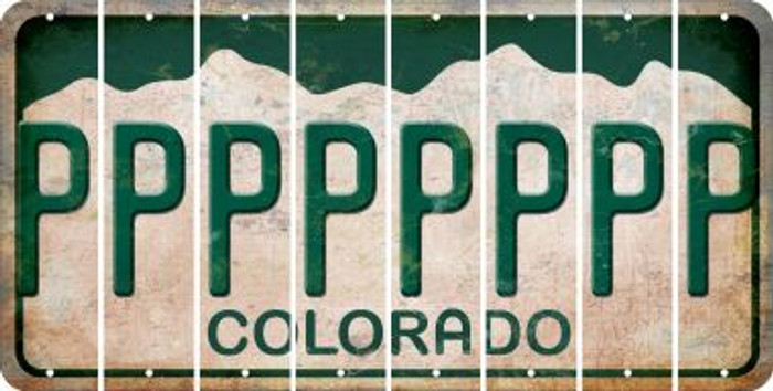 Colorado P Cut License Plate Strips (Set of 8) LPS-CO1-016