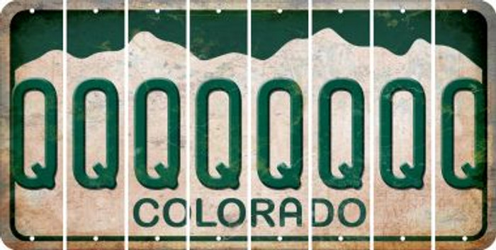 Colorado Q Cut License Plate Strips (Set of 8) LPS-CO1-017