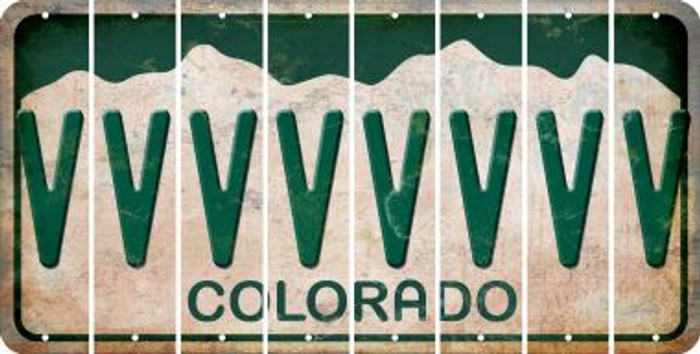 Colorado V Cut License Plate Strips (Set of 8) LPS-CO1-022