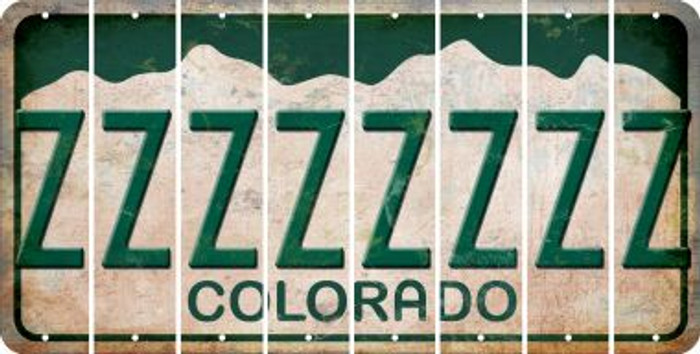 Colorado Z Cut License Plate Strips (Set of 8) LPS-CO1-026