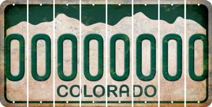 Colorado 0 Cut License Plate Strips (Set of 8) LPS-CO1-027