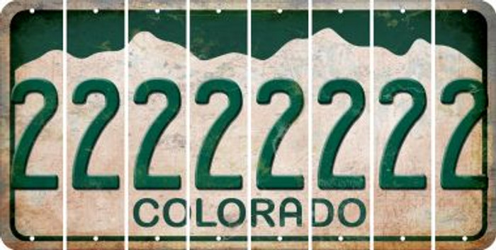 Colorado 2 Cut License Plate Strips (Set of 8) LPS-CO1-029