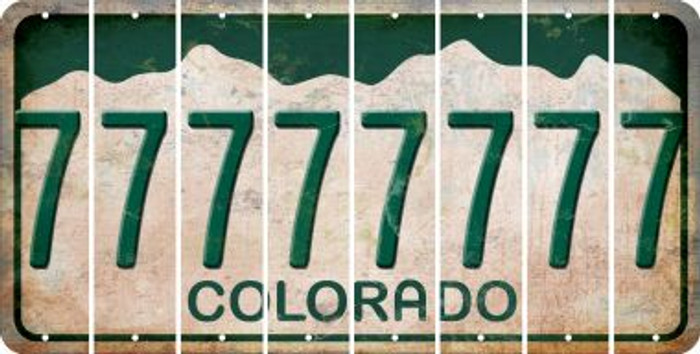 Colorado 7 Cut License Plate Strips (Set of 8) LPS-CO1-034