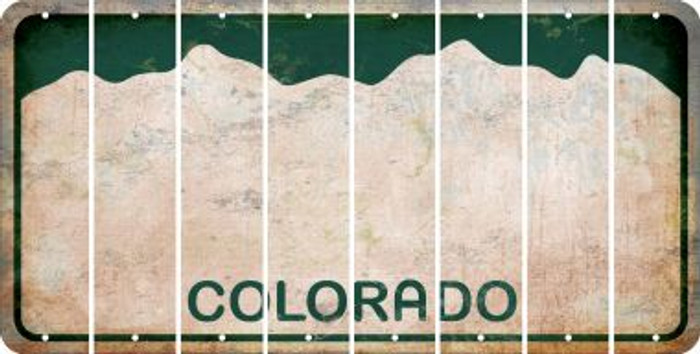 Colorado BLANK Cut License Plate Strips (Set of 8) LPS-CO1-037