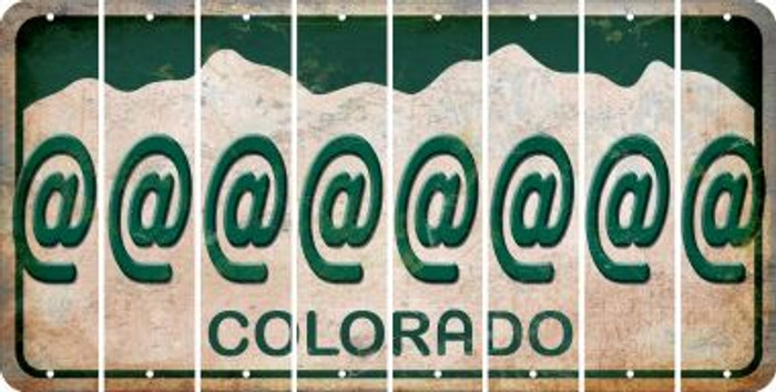 Colorado ASPERAND Cut License Plate Strips (Set of 8) LPS-CO1-039