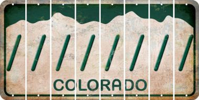 Colorado FORWARD SLASH Cut License Plate Strips (Set of 8) LPS-CO1-042