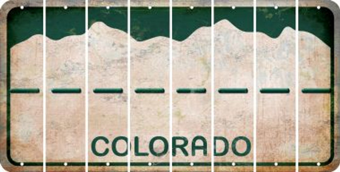 Colorado HYPHEN Cut License Plate Strips (Set of 8) LPS-CO1-044