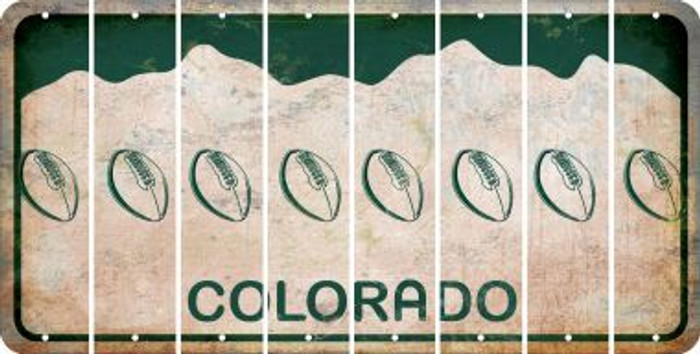 Colorado FOOTBALL Cut License Plate Strips (Set of 8) LPS-CO1-060