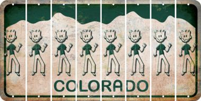 Colorado DAD Cut License Plate Strips (Set of 8) LPS-CO1-071