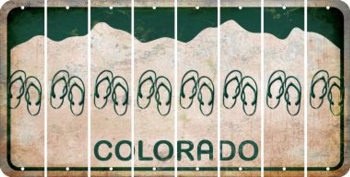 Colorado FLIP FLOPS Cut License Plate Strips (Set of 8) LPS-CO1-085