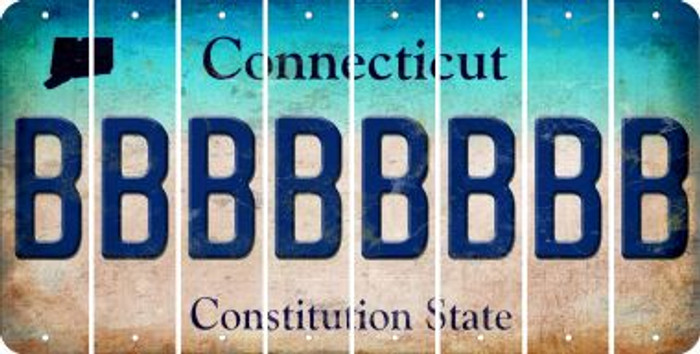 Connecticut B Cut License Plate Strips (Set of 8) LPS-CT1-002