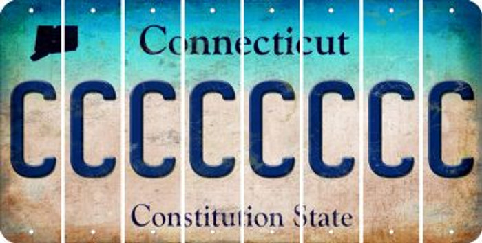 Connecticut C Cut License Plate Strips (Set of 8) LPS-CT1-003