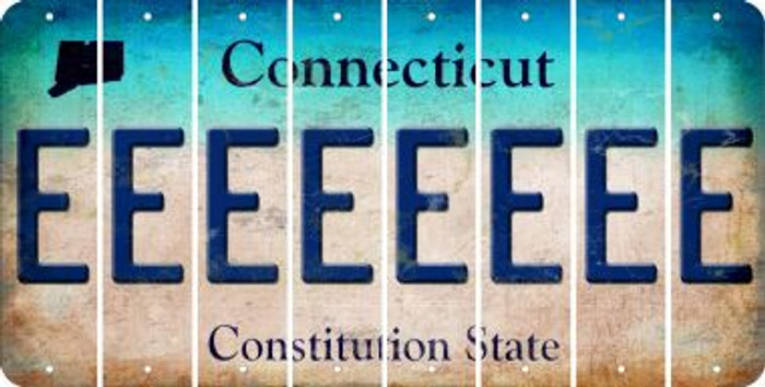 Connecticut E Cut License Plate Strips (Set of 8) LPS-CT1-005