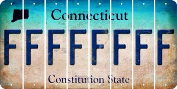 Connecticut F Cut License Plate Strips (Set of 8) LPS-CT1-006