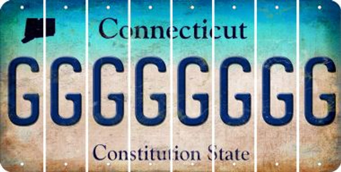 Connecticut G Cut License Plate Strips (Set of 8) LPS-CT1-007