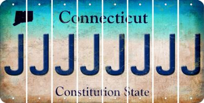 Connecticut J Cut License Plate Strips (Set of 8) LPS-CT1-010