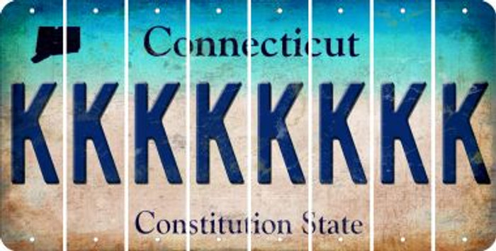 Connecticut K Cut License Plate Strips (Set of 8) LPS-CT1-011