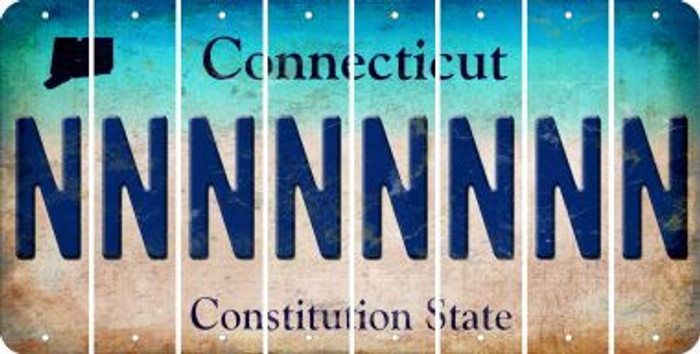 Connecticut N Cut License Plate Strips (Set of 8) LPS-CT1-014