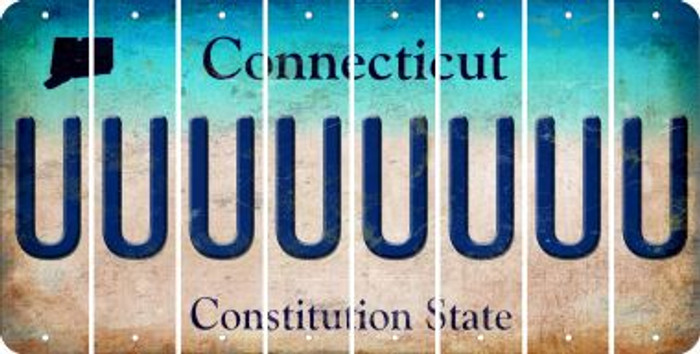 Connecticut U Cut License Plate Strips (Set of 8) LPS-CT1-021